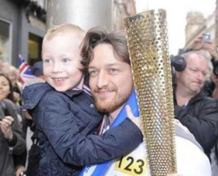 Brendan McAvoy and his father James McAvoy