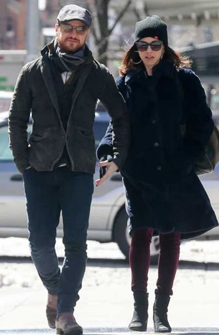 James McAvoy With His Wife Lisa Liberati